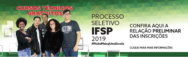 Processo seletivo para cursos técnicos 1º semestre 2019