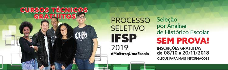 IFSP oferece 5.862 vagas em 144 cursos